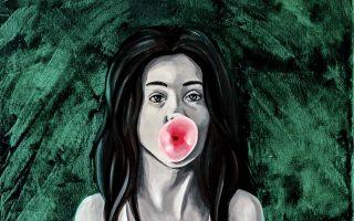 "Sobia Shuaib Bubblegum Girl 16"" x 20"""