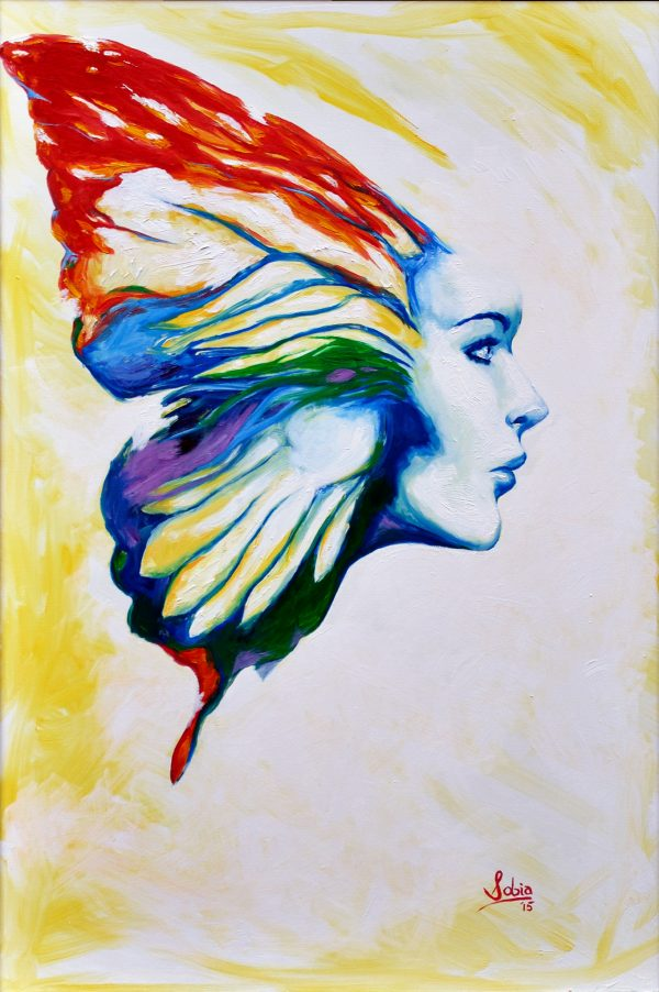 """Sobia Shuaib The Butterfly Effect 24"""" x 36"""""""