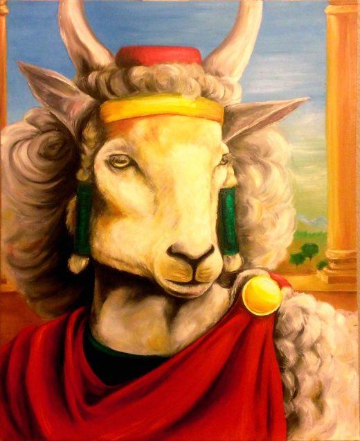 """Sobia Shuaib Sheeple 16"""" x 20"""""""