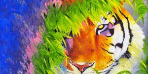 """Sobia Shuaib Tiger - I Am Now 24"""" x 36"""""""