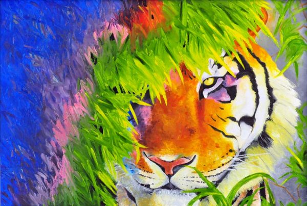"Sobia Shuaib Tiger - I Am Now 24"" x 36"""