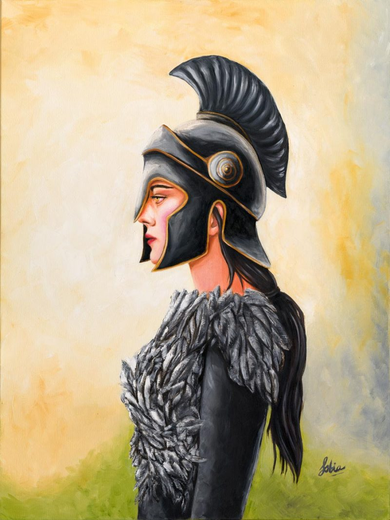 "Sobia Shuaib Warrior Princess of the Raven Clan 16"" x 20"""
