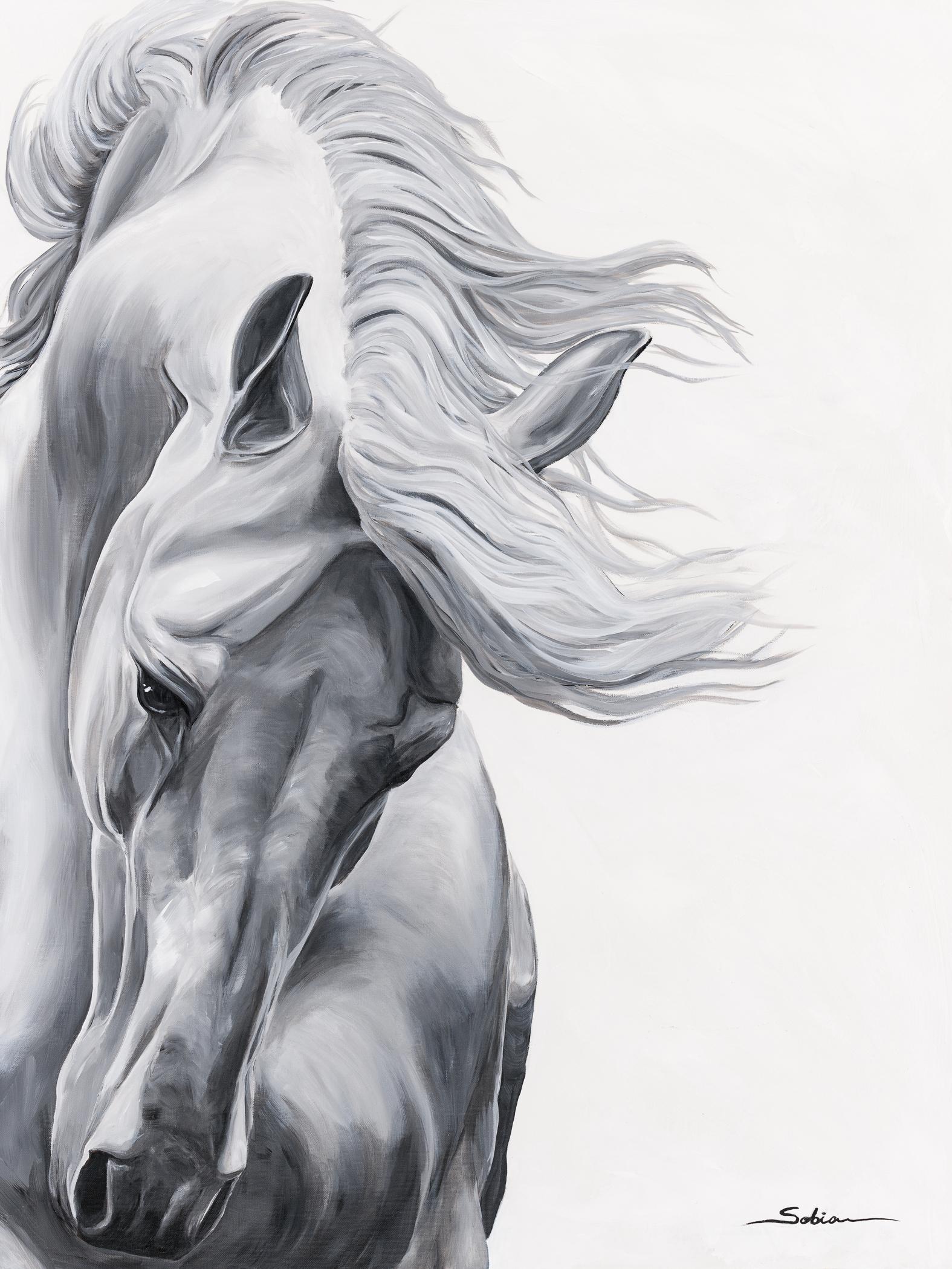 Sobia Shuaib - Gray Storm 30x40